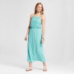 Merona Dresses - Merona Womens Striped Knit Maxi Dress Blue L